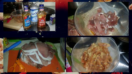 Hot pork tenders the marinade